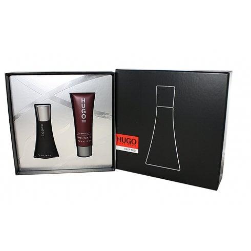 Hugo Boss Deep Red Gift Set 30ml EDP + 50ml Body Lotion