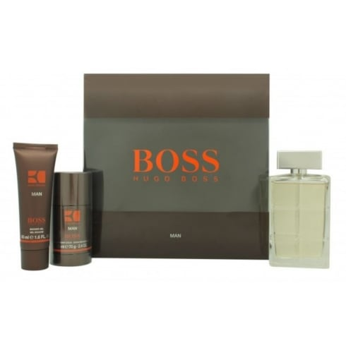 Hugo Boss Orange Man Gift Set 100ml EDT + 75ml Deodorant Stick + 50ml Shower Gel