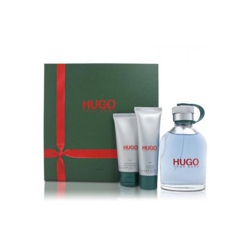 Hugo Boss Hugo Man 150ml EDT Spray / 75ml After Shave Balm / 50ml Shower Gel