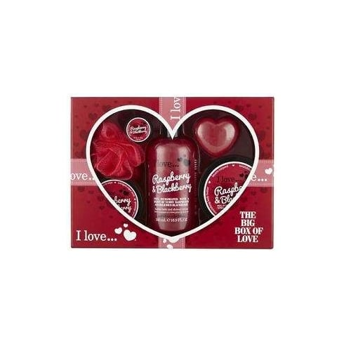I Love RAPSBERRY BIG BOX OF LOVE   G0001 500ML B BATH 200ML B BUTTER