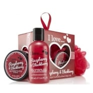 I LOVE RASPBERRY 3 PC MINI BOX     B/BATH 100ML + B/BUTTER 50ML