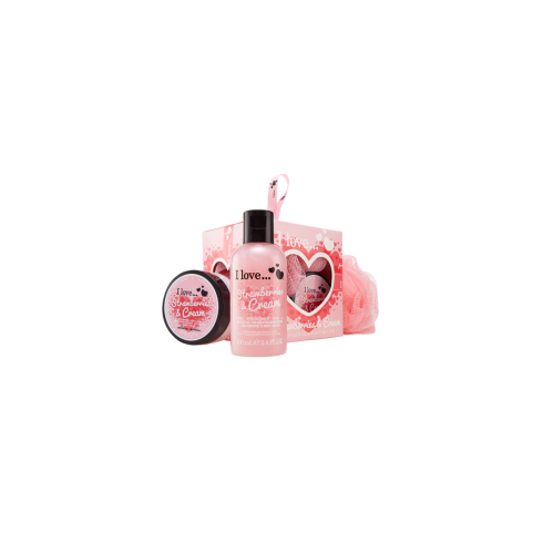 I Love VANILLA 3PC MINI BOX OF LOVE100ML BUBBLE BATH/ 50ML B/BUTTER