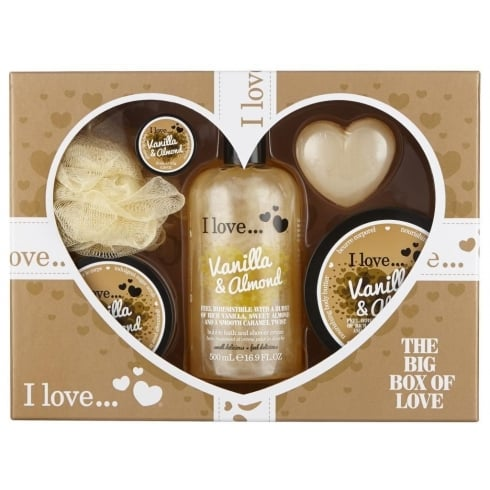 I Love VANILLA + ALMOND 6PCE       500ML BUBBLE BATH 200ML B/BUTTER