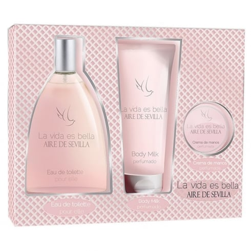 Instituto Espanol Aire De Sevilla La Vida Es Bella EDT Spray 150ml Set 3 Pieces