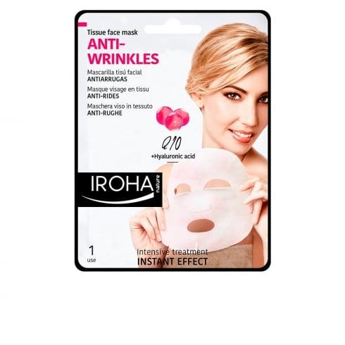 Iroha Nature Anti Wrinkles Tissue Face Mask Q10 1 Unit