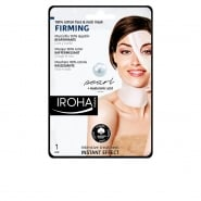 Iroha Nature Firming Cotton Face And Neck Mask Pearl 1 Unit