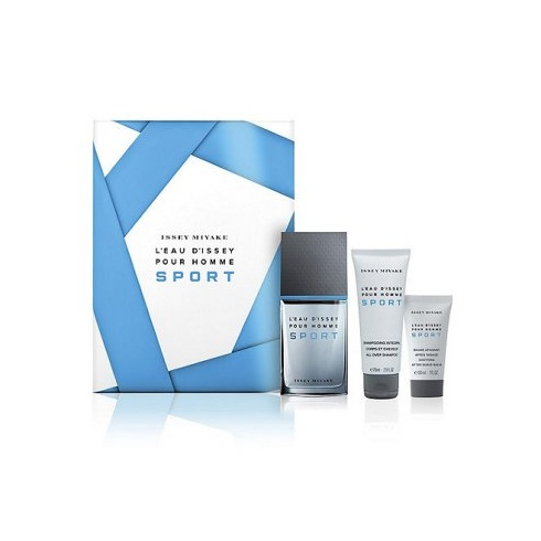 Issey Miyake L'Eau d'Issey Pour Homme Sport Gift Set 100ml EDT + 75ml Shower Gel + 50ml Aftershave Balm