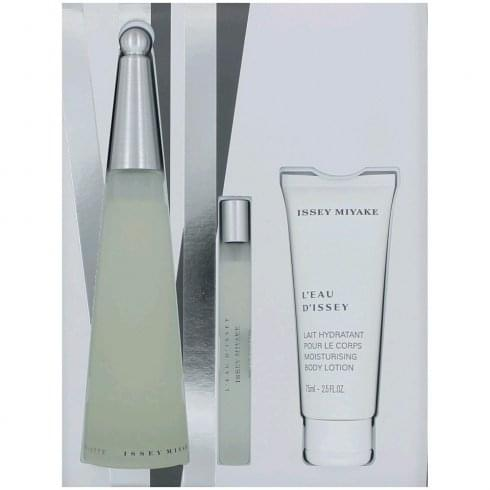 Issey Miyake L'Eau d'Issey Florale Gift Set 50ml EDT + 75ml Body Lotion + 30ml Shower Cream