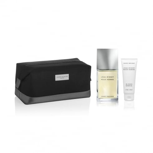 Issey Miyake L'Eau d'Issey Pour Homme 75ml EDT Spray + 50ml Shower Gel + Toiletry Bag