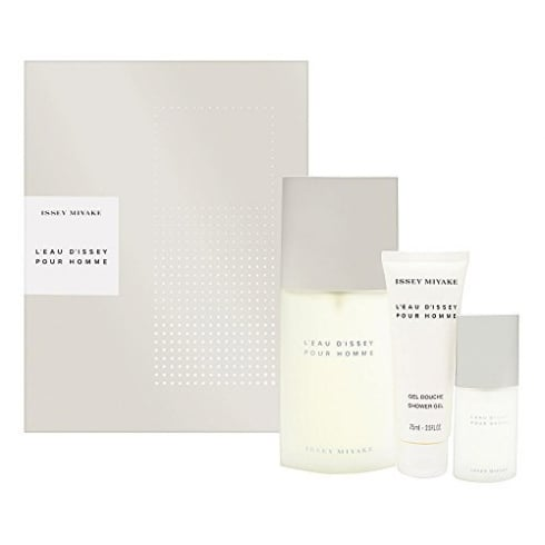 Issey Miyake L'Eau d'Issey Pour Homme Gift Set 125ml EDT + 75ml Shower Gel + 15ml EDT