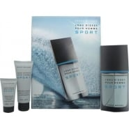 Issey Miyake L'Eau d'Issey Pour Homme Sport Gift Set - 100ml EDT + 75ml All Over Shampoo + 30ml Aftershave Balm