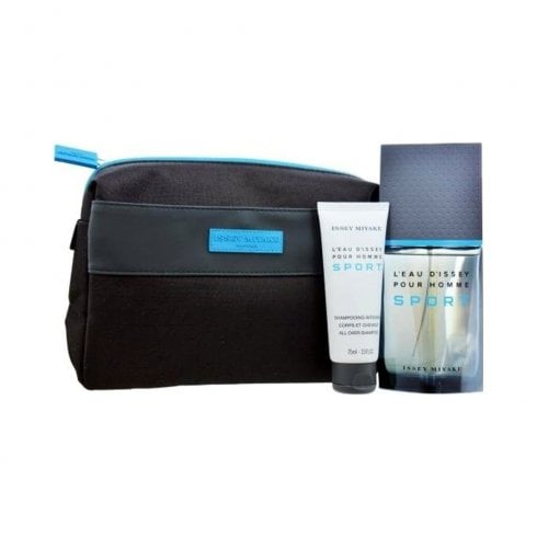 Issey Miyake L'Eau d'Issey Pour Homme Sport Gift Set 50ml EDT + 50ml Shampoo + Toiletry Bag