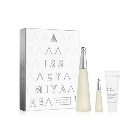 Issey Miyake L'Eau d'Issey Pure Gift Set 90ml EDP + 10ml EDP + 75ml Body Cream