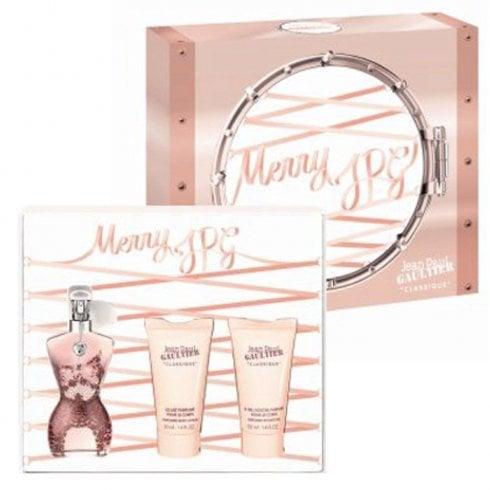 Jean Paul Gaultier Classique Gift Set 50ml EDT Spray + 50ml Body Lotion + 50ml Shower Gel
