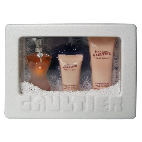 Jean Paul Gaultier Classique Snowstorm Edition Gift Set 50ml EDT + 75ml Body Lotion + 30ml Shower Gel