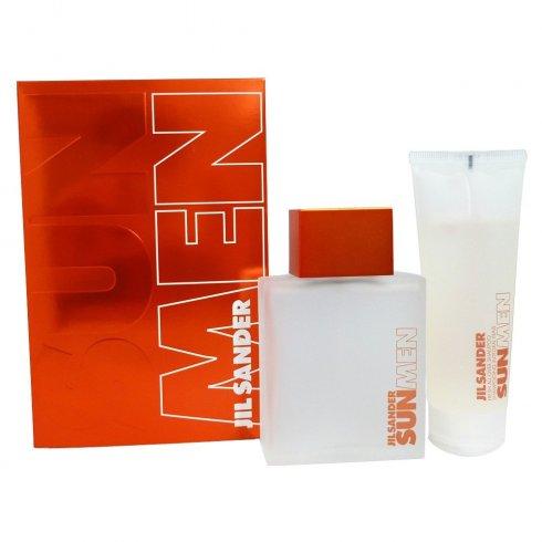 Jil Sander Sun for Men 75ml EDT Spray + 75ml Fresh All Over Shampoo