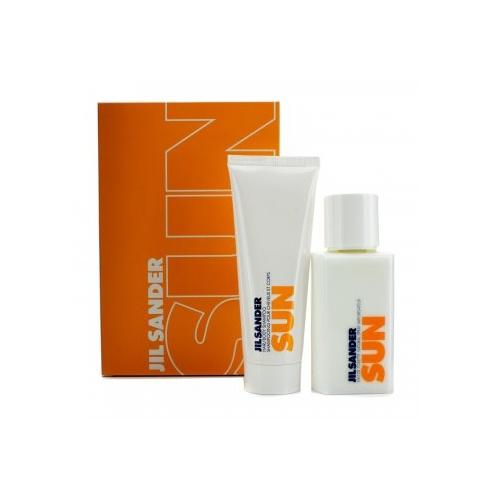 Jil Sander Sun Gift Set for Women 75ml EDT Spray + 75ml Shampoo