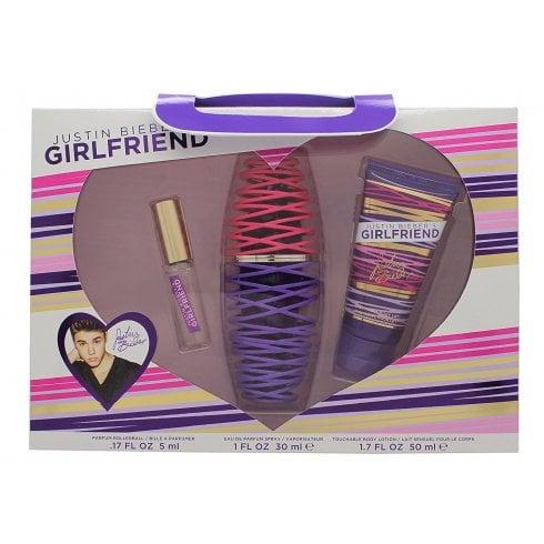 Justin Bieber Girlfriend Gift Set 30ml EDP + 50ml Body Lotion + 5ml EDP Rollerball