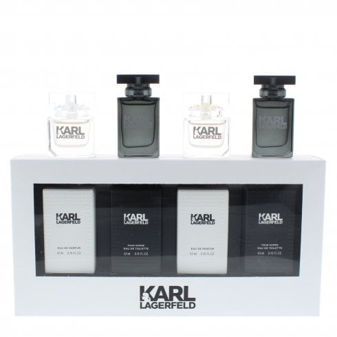 Karl Lagerfeld 2Pcs Femme Edp + 2Pcs Homme Edt 4.5ml Mini Set