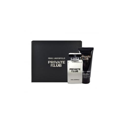 Karl Lagerfeld Private Klub for Men Gift Set 50ml EDT + 100ml Shower Gel