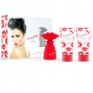 Katie Price Kissable Gift Set 100ml EDP + 100ml Hair & Body Wash + 100ml Body Lotion + Lip Gloss Charm