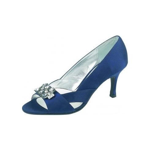 Lexus Kayla Womens Open Peek Toe Diamond Brooch Heels