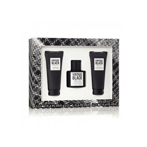 Kenneth Cole Vintage Black Gift Set 100ml EDT + 100ml After Shave Balm + 100ml Body Wash