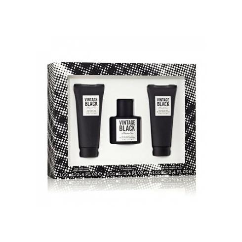 Kenneth Cole Vintage Black Gift Set 100ml EDT + 100ml After Shave Balm + 100ml Body Wash