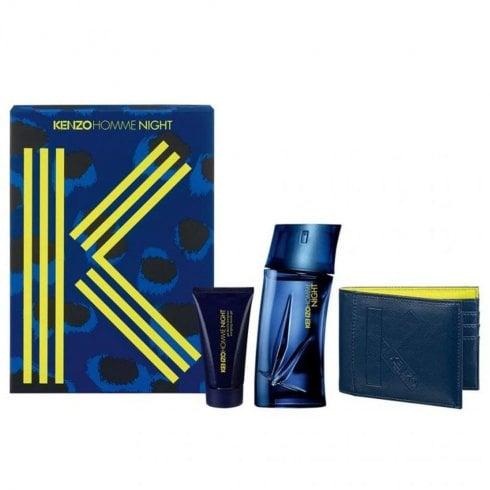 Kenzo Homme Night Gift Set 100ml EDT + 50ml Shower Gel + Pouch