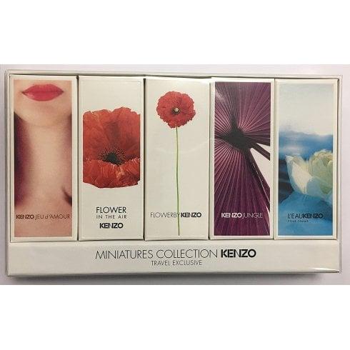 Kenzo Miniatures for Women Gift Set 4ml Jeu D'Amour EDP + 4ml Flower in The Air EDP + 4ml Flower EDP + 5ml Jungle EDP + 5ml L'Eau Kenzo EDP