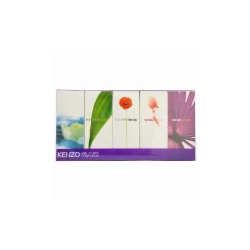 Kenzo Miniatures for Women Gift Set 5ml L'eau Par EDT Splash + 4ml Amour EDP Splash + 3.5ml Parfum d'Ete EDP Splash + 4ml Flower EDP Splash + 5ml Jungle EDP Splash