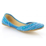 Unze Kids Girls Pumps (Indian Khussa) - Blue