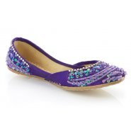 Unze Kids Girls Pumps (Indian Khussa) - Purple
