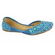 Unze Kids Girls Pumps (Indian Khussa) - Turquoise