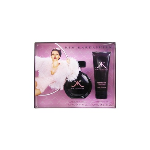 Kim Kardashian Gift Set 100ml EDP Spray + 100ml Body Lotion