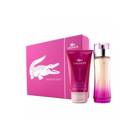 Lacoste Lacoste Touch of Pink Gift Set 90ml EDT Spray + 150ml Body ... 409d6c506b