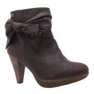 Xti Ladies Bow Boot Brown - 25465