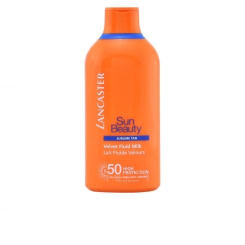 Lancaster Sun Beauty Velvet Tanning Fluid Milk SPF50 400ml Face And Body