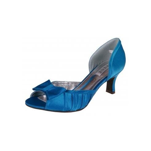 Lexus Alice Womens Silk Open Peek Toe Bow Shoes