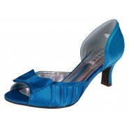 Lexus Alice Womens Silk Open Peek Toe Bow Shoes