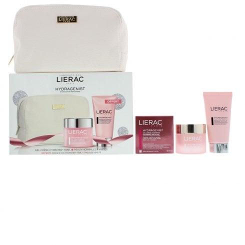 Lierac Hydragenist 50ml Cream Gel- 75ml Rescue Mask - Cosmetic Bag