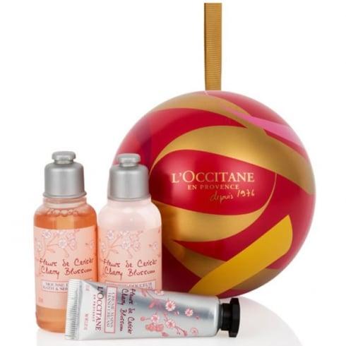 L'Occitane Loccitane Cherry Blossom Christmas Ball Ornament Set 3 Pieces 2016