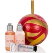 L'Occitane Loccitane Cherry Blossom Christmas Ball Ornament Set 3 Pieces 2016