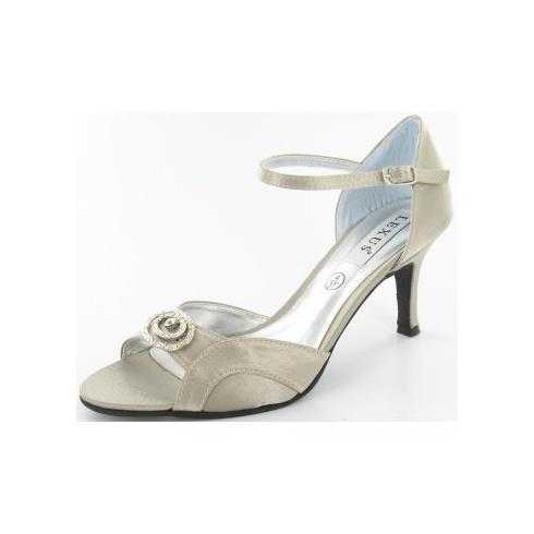Lexus Mandy Womens Diamond Brooch Strappy Heels