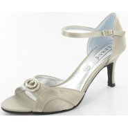 Lexus Mandy Womens Diamond Brooch Strappy Heels