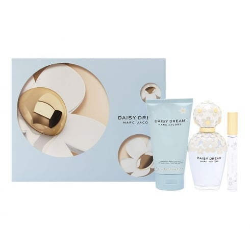 Marc Jacobs Daisy Dream 100ml EDT Spray / 150ml Body Lotion / 10ml EDT Mini...