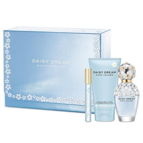 Marc Jacobs Daisy Dream Gift Set 100ml EDT+ 4ml EDT Mini + 150ml Body Lotion