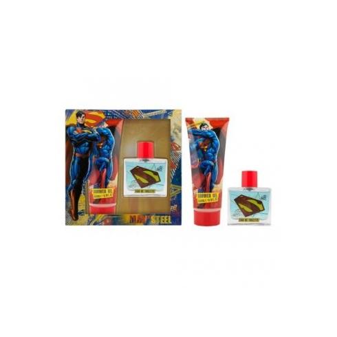 Marvel Superman Man of Steel Invincible Gift Set 50ml EDT + 150ml Shower Gel