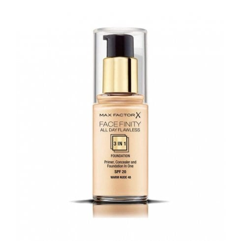 Max Factor Facefinity All Day Flawless 3 in 1 Foundation SPF20 30ml (Warm Nude 48)