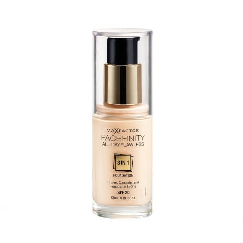Max Factor Mf Facefinity 3 In 1 Foundation 33 Crystal Beige 30ml SPF 20